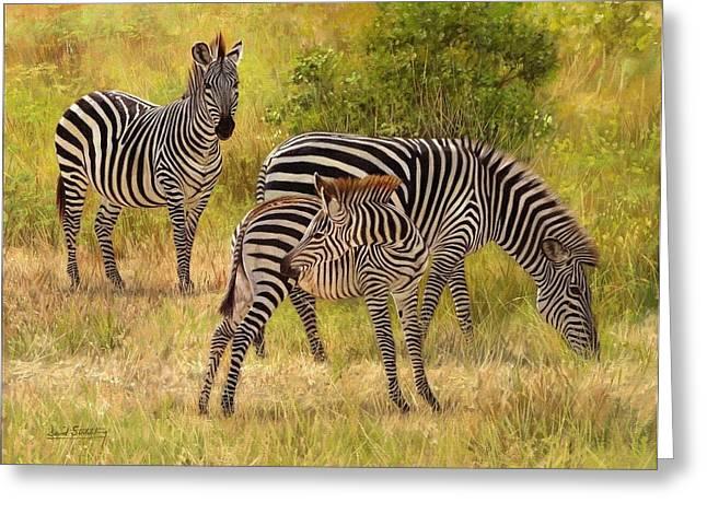 Zebras South Luangwa Greeting Card
