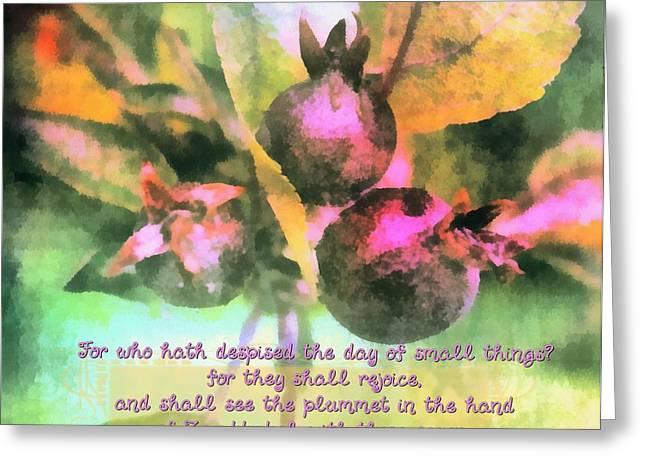 Zechariah 4 10 Greeting Card by Michelle Greene Wheeler
