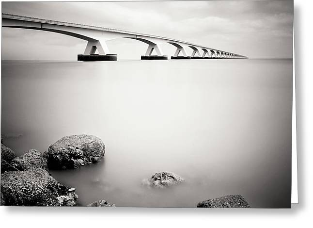 Zeelandbridge II Greeting Card by Nina Papiorek