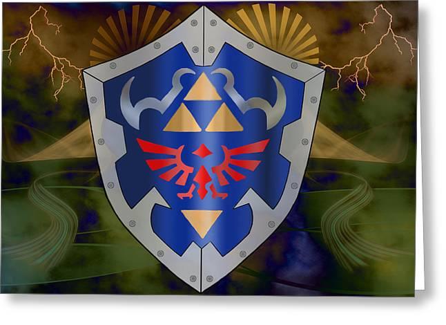 Hylian Zelda Shield Greeting Card