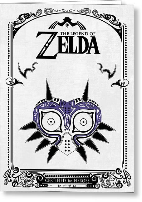 Zelda Legend - Majora's Mask Greeting Card by Art Et Be