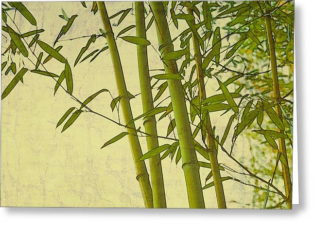 Zen Bamboo Abstract I Greeting Card by Marianne Campolongo
