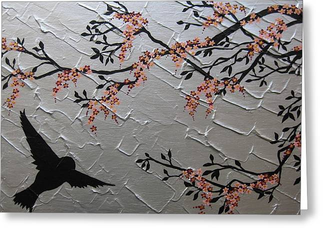Zen Blossom Greeting Card by Cathy Jacobs