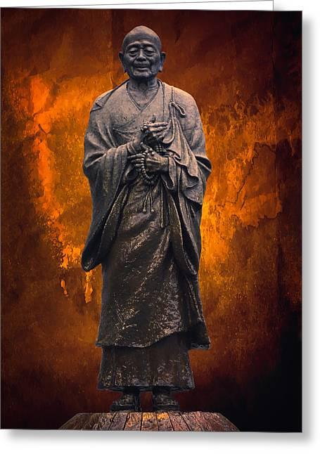 Zen Buddhism Deity Greeting Card by Daniel Hagerman