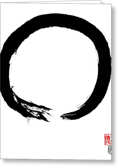 Zen Circle Four Greeting Card by Peter Cutler