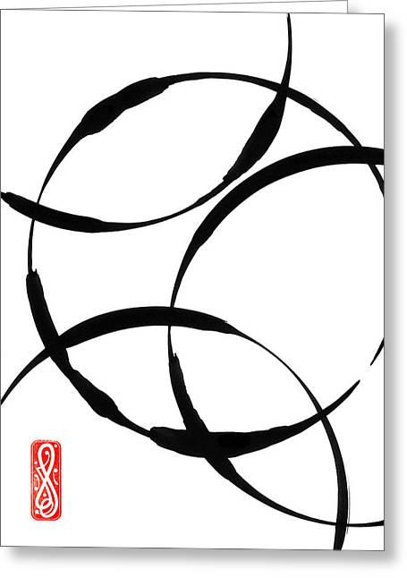 Zen Circles Greeting Card by Hakon Soreide