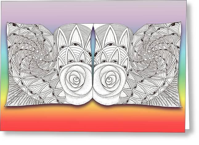 Zen Eyes Greeting Card by Melinda DeMent