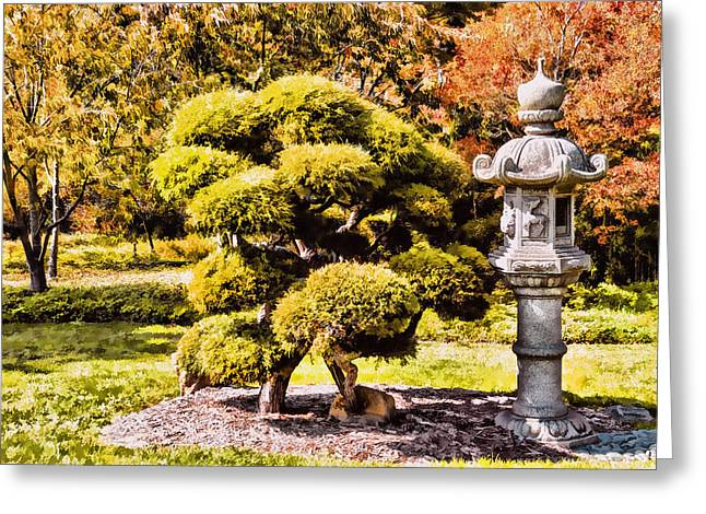 Greeting Card featuring the photograph Zen Garden by Anthony Citro
