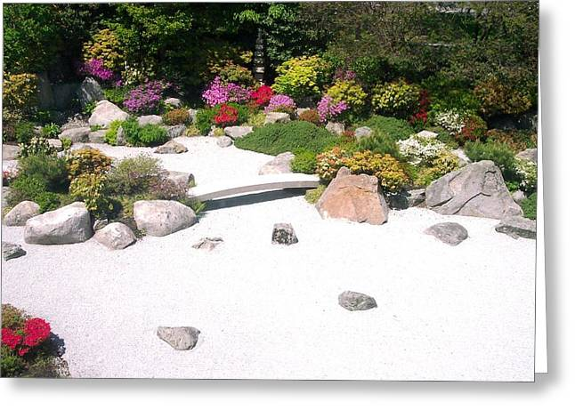 Zen Garden Greeting Card by Pamela Schreckengost