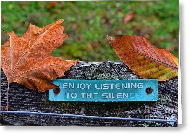 Zen Inner Peace Greeting Card by Paul Ward