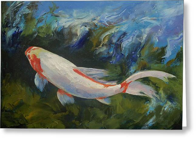 Zen Koi Greeting Card