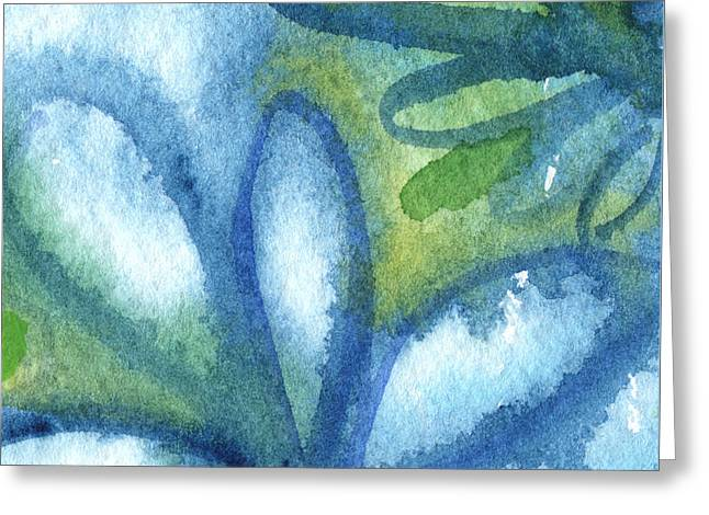 Zen Leaves Greeting Card by Linda Woods