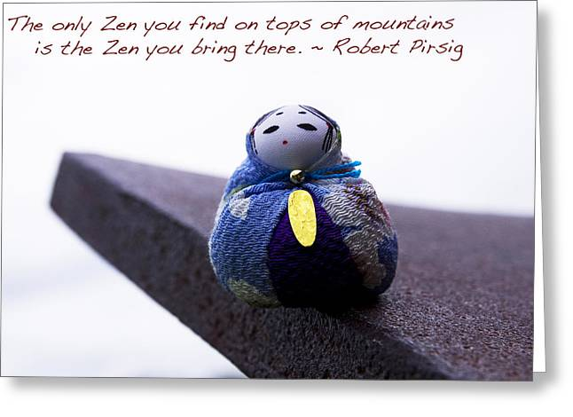 Zen On Tops Of Mountains Greeting Card by William Patrick
