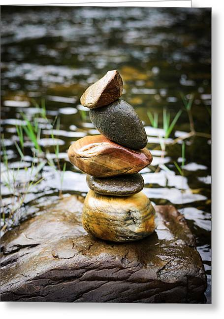 Zen River I Greeting Card by Marco Oliveira