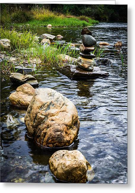 Zen River V Greeting Card by Marco Oliveira