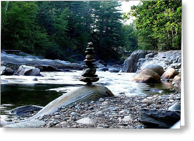 Zen Rock Tower Greeting Card