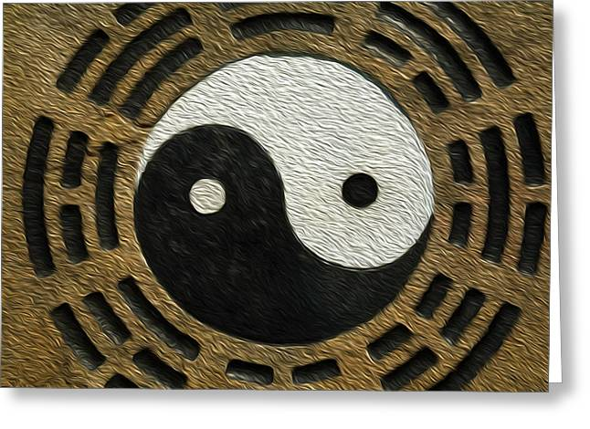 Zen Stones With Yin And Yang Greeting Card