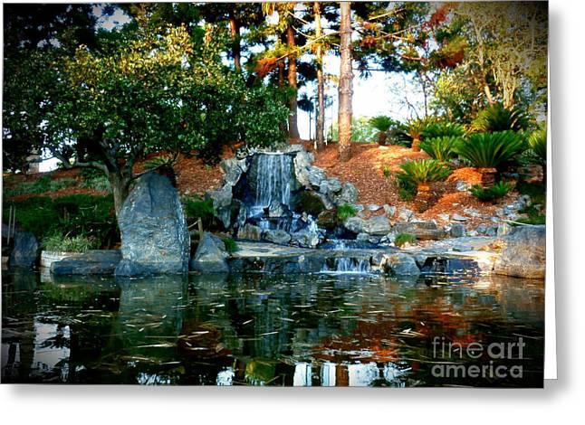 Zen Waterfall II Greeting Card