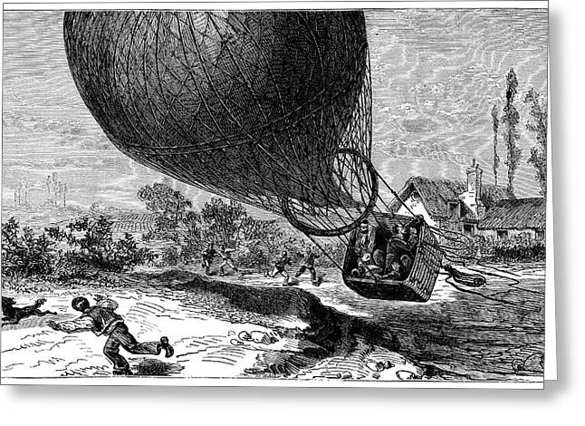 'zenith' Balloon Crash Greeting Card by Science Photo Library