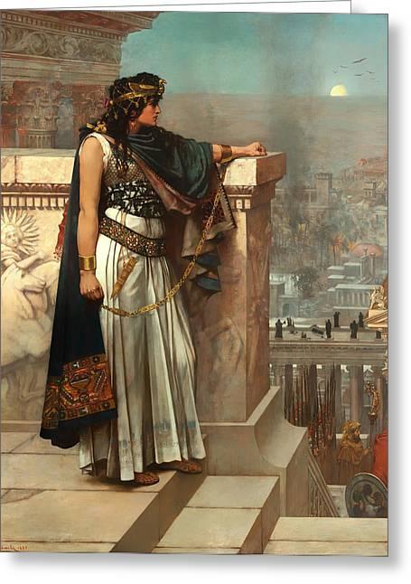 Zenobia's Last Look On Palmyra Greeting Card by Mountain Dreams
