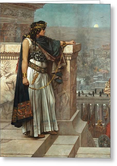 Zenobias Last Look On Palmyra Greeting Card