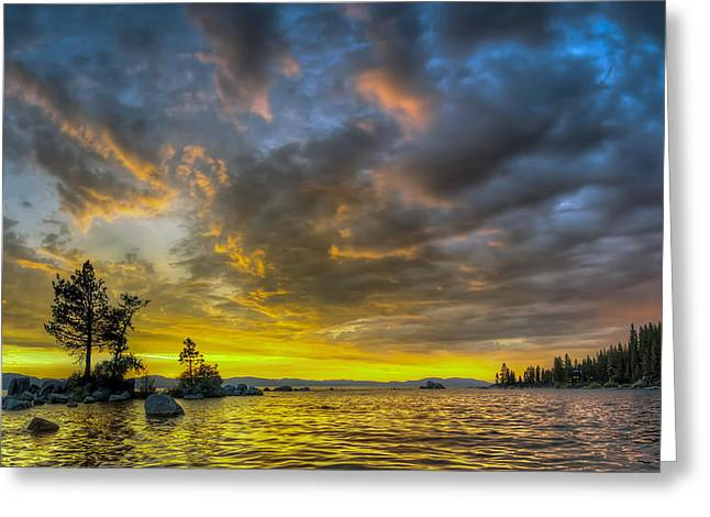 Zephyr Cove Greeting Card by Sean Foster