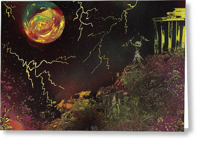 Zeus Greeting Card by Mike Cicirelli