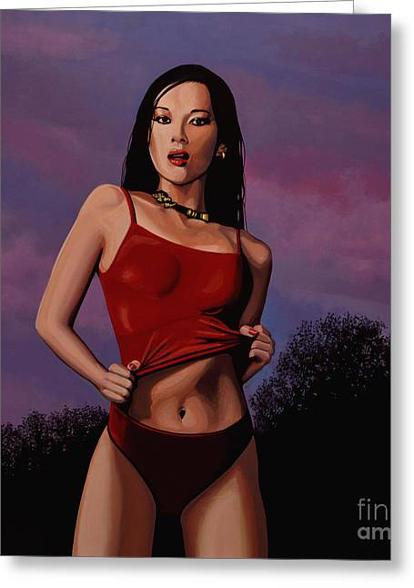 Zhang Ziyi Greeting Card