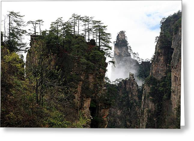 Greeting Card featuring the photograph Zhangjiajie National Forest Park In China by Yue Wang