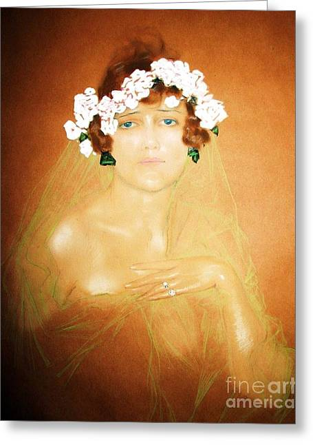 Ziegfeld Century Girl Greeting Card by Pg Reproductions
