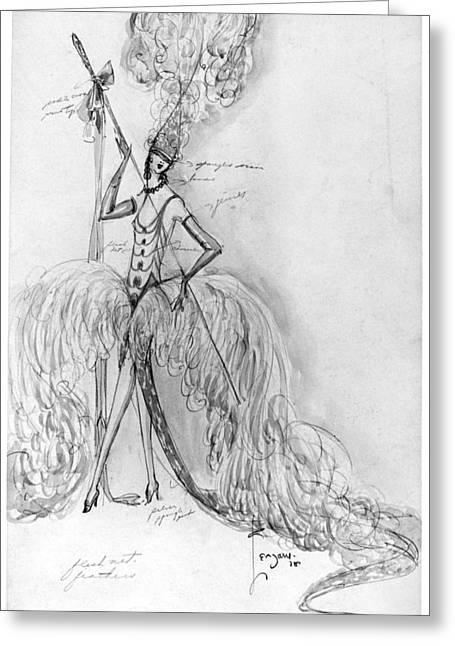 Ziegfeld Follies, 1928 Greeting Card by Granger
