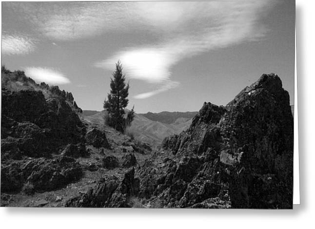 Greeting Card featuring the photograph Zig Zag Sky by Tarey Potter