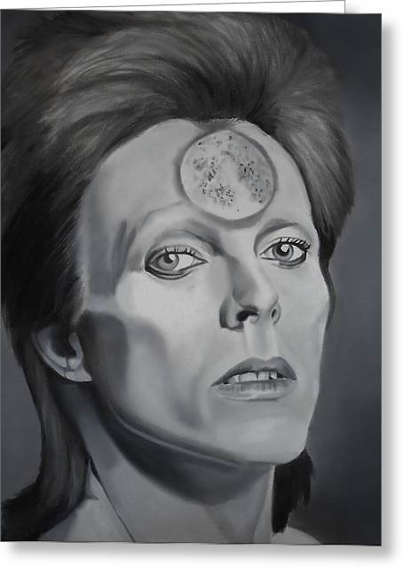 Ziggy Stardust Greeting Card by Brian Broadway