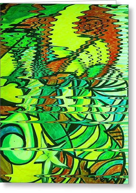 Ziggy Zaggy Figments Of Imagination Greeting Card by Anne-Elizabeth Whiteway