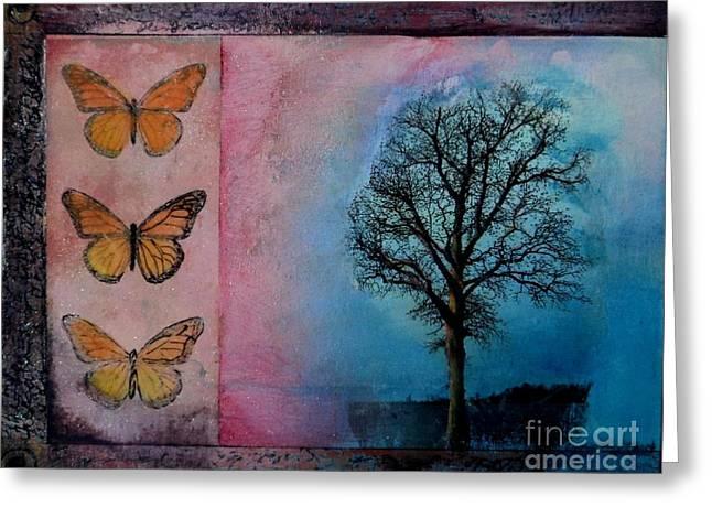 Zig's Tree Greeting Card by Cynthia Vaught