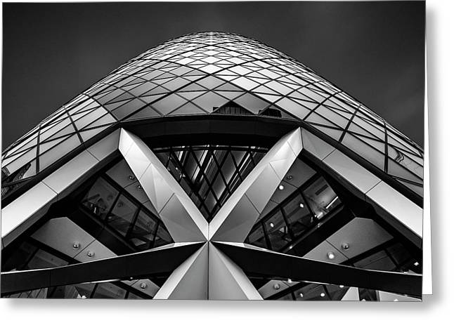 Zigzag (the  Gherkin) Greeting Card