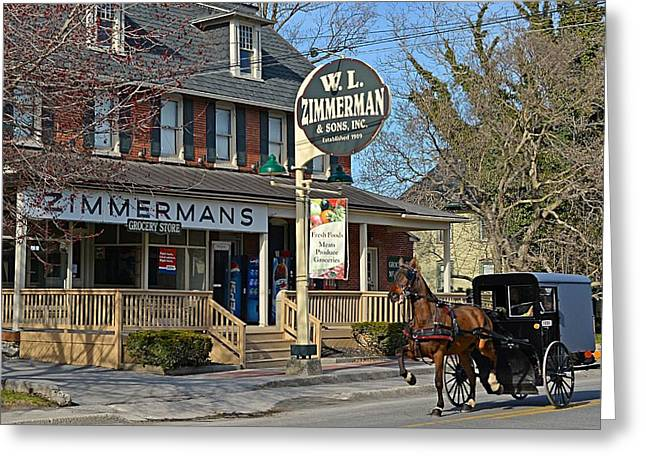 Zimmerman's Store Intercourse Pennsylvania Greeting Card