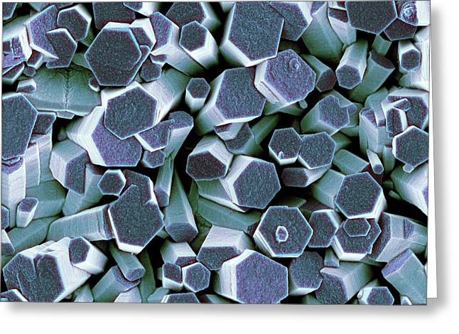 Zinc Oxide Crystals Greeting Card