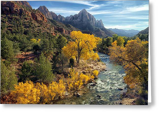 Zion National Park In Fall Greeting Card