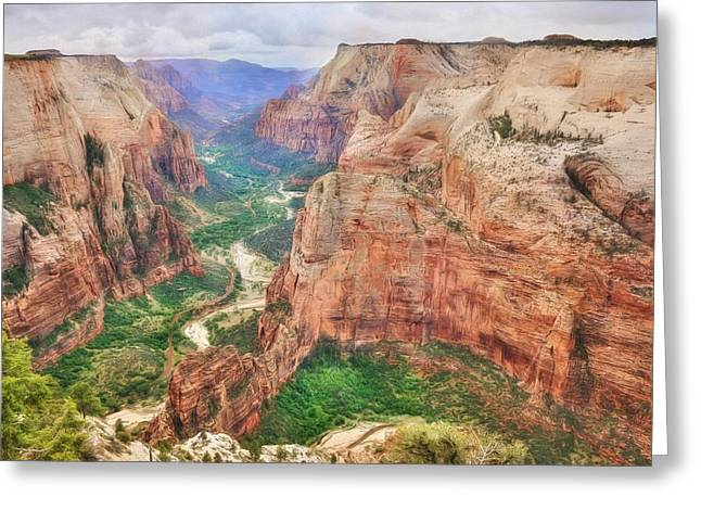 Zion National Park Greeting Card by Lori Deiter