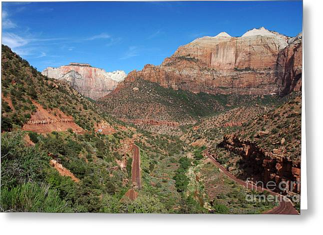 206p Zion National Park Greeting Card