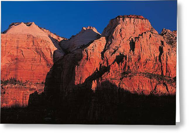Zion National Park Ut Usa Greeting Card by Panoramic Images