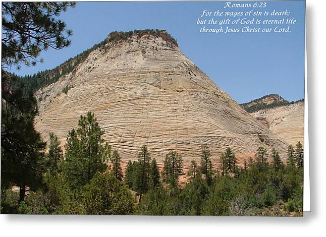 Zion  Romans 6-23 Greeting Card by Nelson Skinner