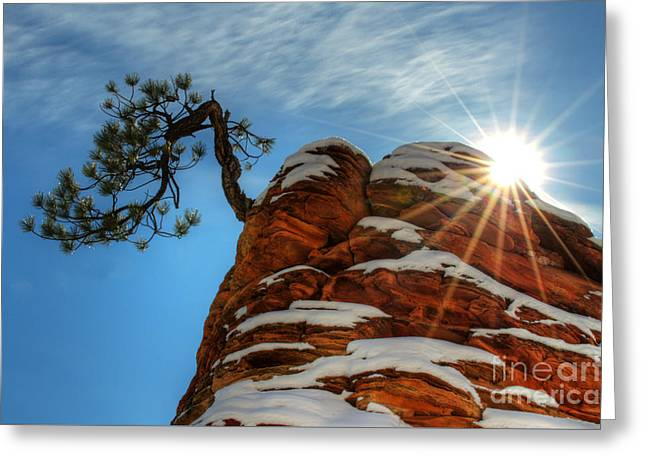 Zion National Park Sacred Earth 2 Greeting Card