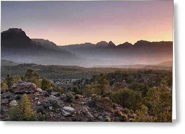 Zion Sunrise Greeting Card by Leland D Howard