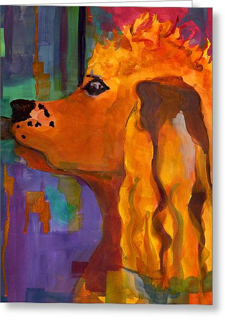 Zippy Dog Art Greeting Card by Blenda Studio
