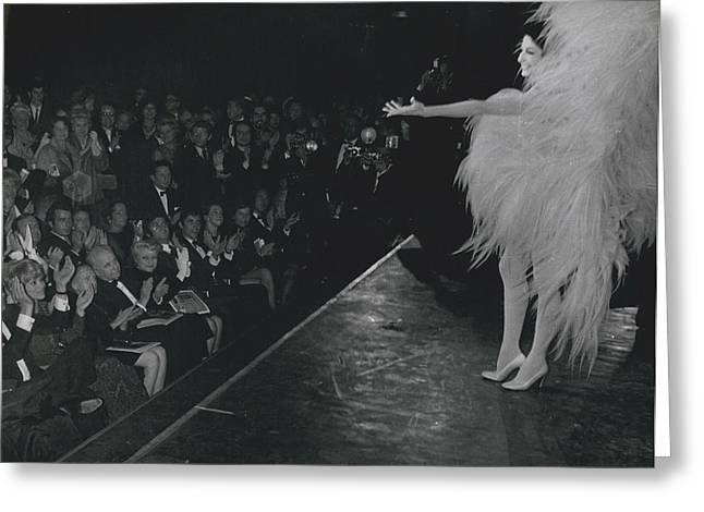 Zizi Jea Nmaire Stars In Olympia Show Greeting Card by Retro Images Archive