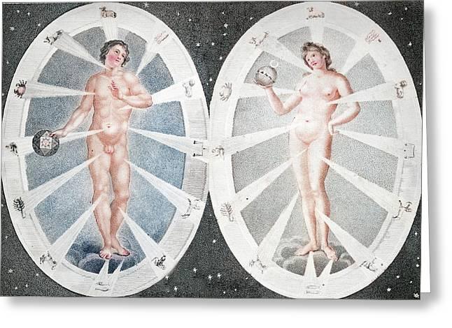 Zoadiac Adam And Eve Greeting Card