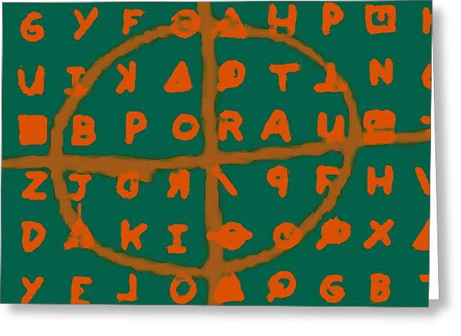 Zodiac Killer Code And Sign 20130213p28 Greeting Card