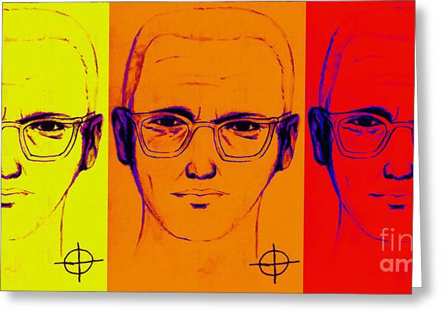 Zodiac Killer Three With Sign 20130213 Greeting Card